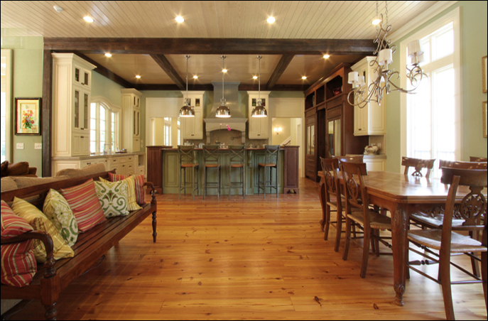 Kitchens With Wood On Ceiling