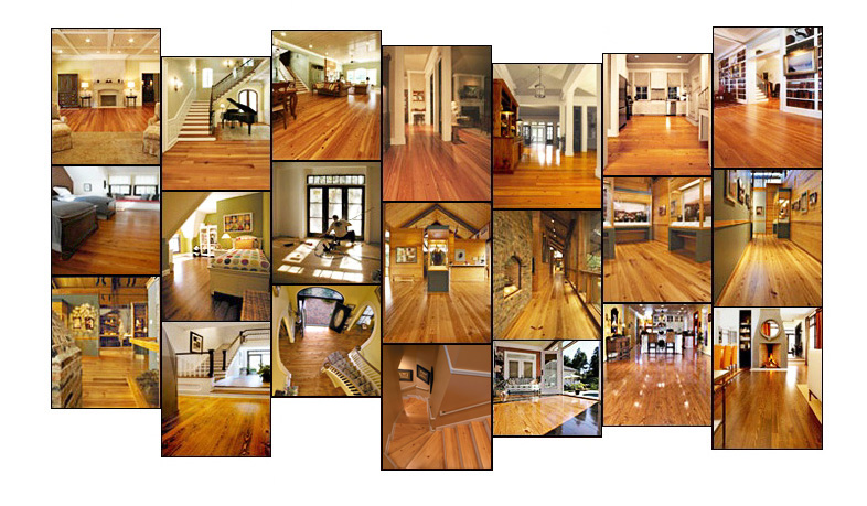 Installations of fine hardwood flooring, solid and engineered, unfinished and prefinished, all manufactured by Southern Wood Floors.